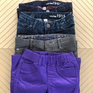 Lot of 4 Girls Jeans 3T